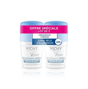 Vichy Minerálne guľôčkový deodorant ( Mineral Deodorant) 2 x 50 ml