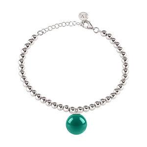 Morellato Oceľový náramok so zeleným príveskom Boule SALY20