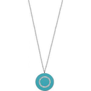 Morellato Strieborný náhrdelník s tyrkysovým príveskom Perfetti SALX19 (retiazka, prívesok)