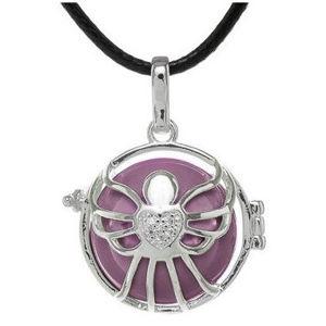 MUMMY BELL Dámsky náhrdelník fialová rolnička Andílek K5SF20