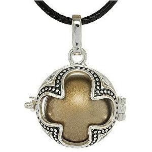 MUMMY BELL Dámsky náhrdelník hnedá Rolnička Štvorlístok K16SH18