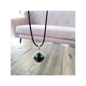 MUMMY BELL Dámsky náhrdelník zelená Rolnička Štvorlístok K16SZ18