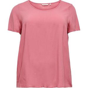 ONLY CARMAKOMA Dámske tričko Loose Fit CARFIRSTLY LIFE 15226657 Baroque Rose