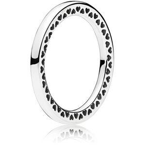 Pandora Strieborný srdiečkový prsteň 196237