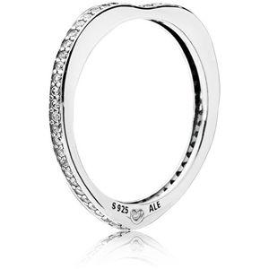 Pandora Strieborný zamilovaný prsteň 197095CZ