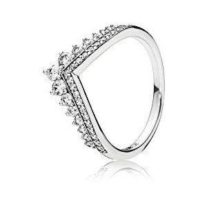 Pandora Štýlový strieborný prsteň s trblietavými kamienkami 197736CZ