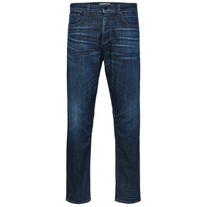 SELECTED HOMME Pánske džínsy Tapered-Toby 6145 D.Blu St Jns W Dark Blue Denim