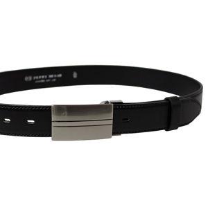 Penny Belts Pánsky kožený spoločenský opasok 35-020-8PS-60 Čierny
