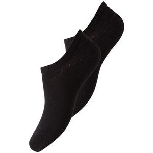 Pieces 2 PACK - dámske ponožky PCTESS 17072600 Black