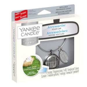 Yankee Candle Vôňa do auta s puzdrom Linear Clean Cotton 90 g