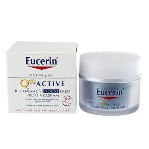 Eucerin Regeneračný nočný krém proti vráskam pre všetky typy citlivej pleti Q10 Active 50 ml