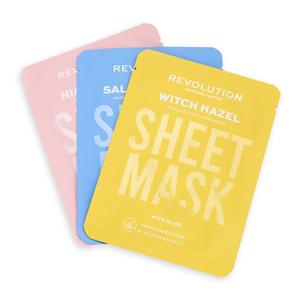 Revolution Skincare Sada pleťových masiek pre problematickú pleť biodegradable (Blemish Prone Skin Sheet Mask)