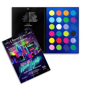 RUDE® Cosmetics Paletka očných tieňov City of Neon Light s 36 g