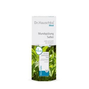Dr. Hauschka Sada šalviová ústna voda (Mouth Wash) 300 ml + Mini Atura zubná pasta (Sole Sensitiv e Toothpaste) 8 ml