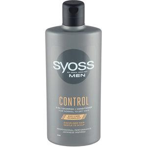 Syoss Šampón a kondicionér pre mužov 2 v 1 pre normálnu až suché vlasy Control (Shampoo + Conditioner)