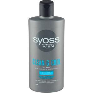 Syoss Šampón pre mužov pre normálnu až mastné vlasy Clean & Cool (Shampoo)