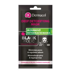 Dermacol Textilné hĺbkovo detoxikačné maska Black Magic (Deep Detox ifying Mask) 15 ml