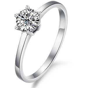 Troli Oceľový prsteň s kryštálom KRS-126