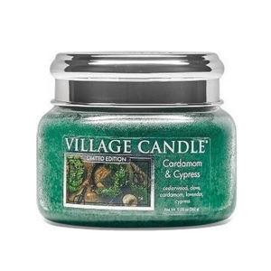Village Candle Vonná sviečka v skle Kardamom a cyprus (Cardamom & Cypress) 262 g