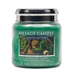 Village Candle Vonná sviečka v skle Kardamom a cyprus (Cardamom & Cypress) 390 g