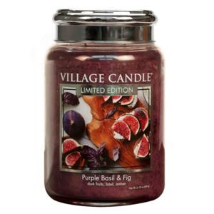 Village Candle Vonná sviečka v skle Fialová bazalka a figa (Purple Basil & Fig) 602 g