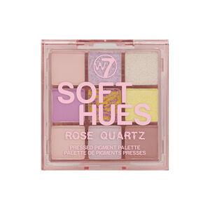 W7 Cosmetics Paletka očných tieňov Soft Hues Rose Quartz (Pressed Pigment Palette) 8,1 g